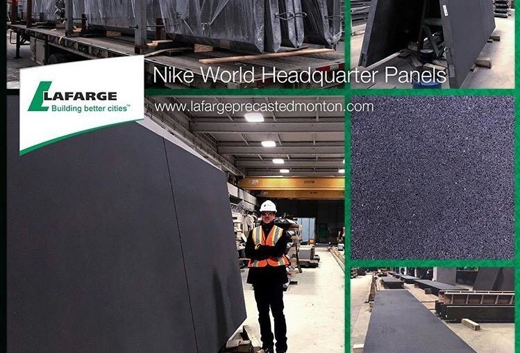 """The panels produced by Lafarge is being used for construction of head office of """"Nike"""""""