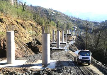 Batumi bypass road is under active construction